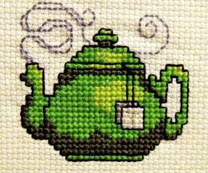 comedy, cross stitch, and tea image
