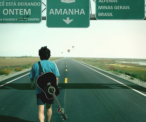 guitar, boy, and road image
