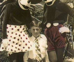 creepy, mickey mouse, and minnie mouse image