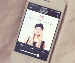 iphone, alli simpson, and music image