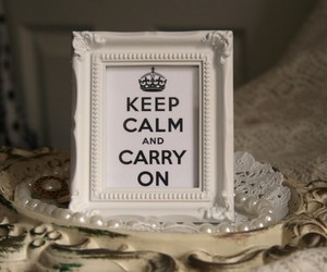 crown, ornate, and keep calm and carry on image