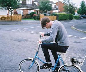 boy, bike, and bicycle image