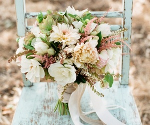 flowers, bouquet, and vintage image