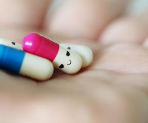 happy, love, and pills image