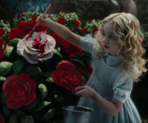 rose, alice, and alice in wonderland image