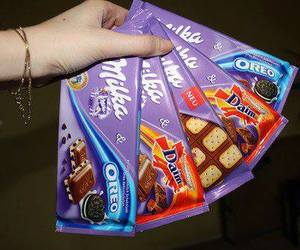 milka, chocolate, and oreo image