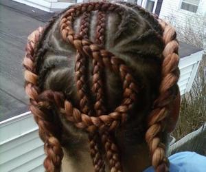 hair, money, and braids image