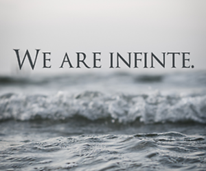 infinite, sea, and text image