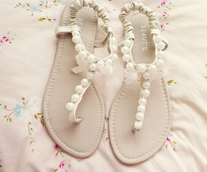 shoes, sandals, and pearls image