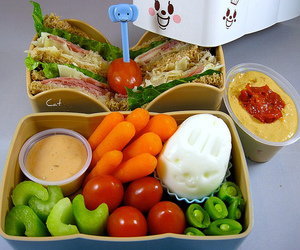 bento, reuben, and food image