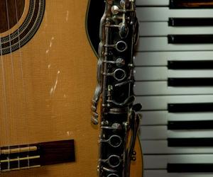 accordion, clarinet, and guitar image