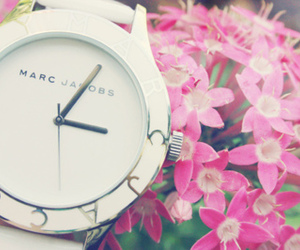 marc jacobs, watch, and flowers image