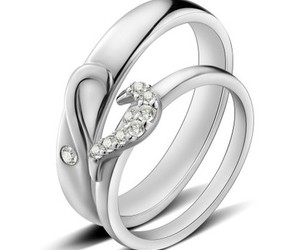 couples promise rings, split heart wedding rings, and wedding rings under 100 image