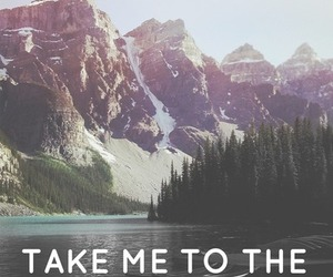 mountains, quote, and adventure image