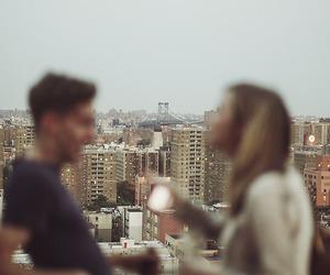 city, couple, and boy image