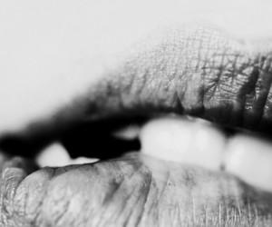 amazing, black & white, and lips image
