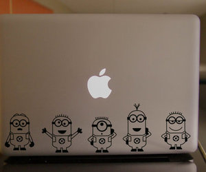 minions, apple, and despicable me image