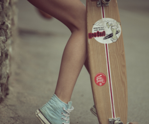 crazy, girl, and longboard image