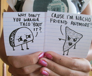 funny, nacho, and taco image