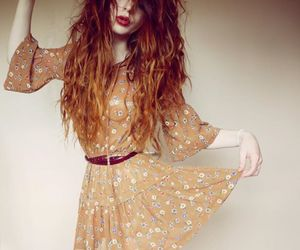 dress, red hair, and vintage image