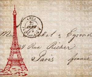 eiffel tower, paris, and stamp image