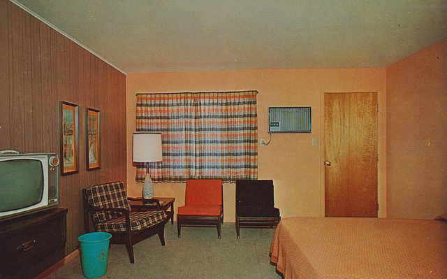 60's, 70, and hotel room image