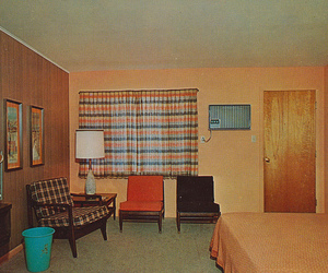 60's, hotel, and postcard image