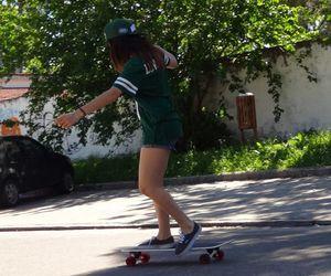 fun, girl, and green image