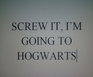 hogwarts, harry potter, and text image