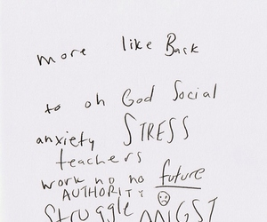 school, stress, and anxiety image