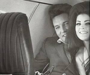 Elvis Presley, black and white, and elvis image
