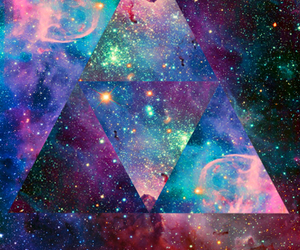 galaxy, hipster, and triangle image