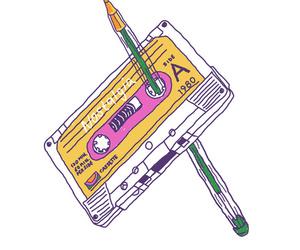 art, cassette, and vintage image