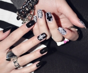 nails, cross, and black image