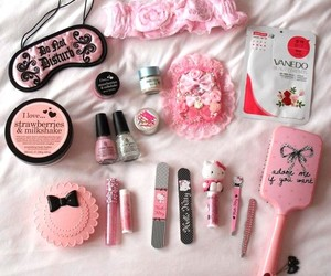 make up, pink, and cute image