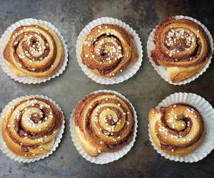 cinnamon roll, yeast, and cinnamon sugar image