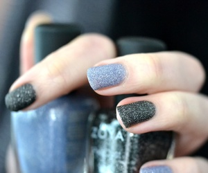 black, nails, and sparkling image