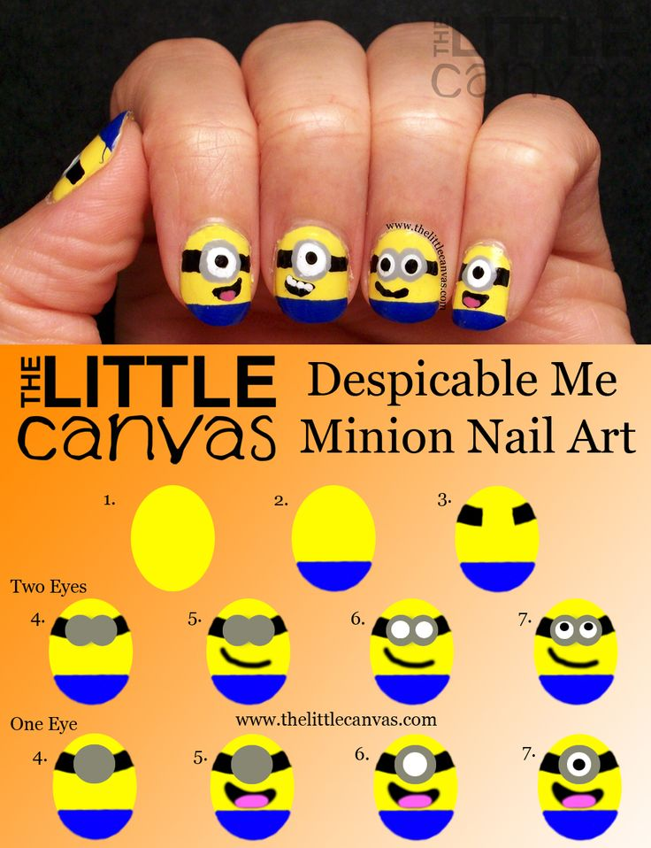 Nail art Minion ... discovered by Patricia Uribe