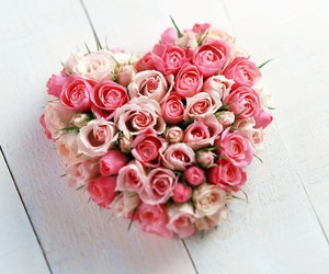 flowers, valentines, and heartlove image