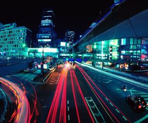 cityscape, highway, and night image