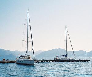 boat, nature, and sea image