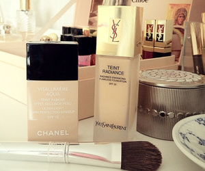 chanel, YSL, and make up image