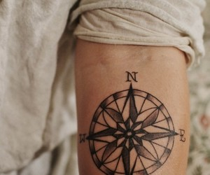 tattoo and compass image
