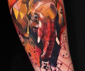 tattoo, elephant, and art image