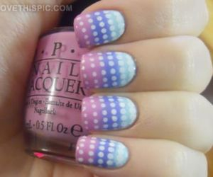 nails, dots, and pink image