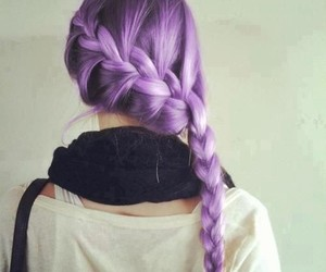 braid, dyed, and hairstyle image
