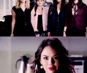 pretty little liars, lucy hale, and janel parrish image