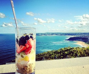 beach, fruit, and summer image