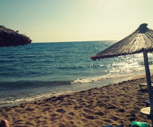 beach, corfu, and summer image