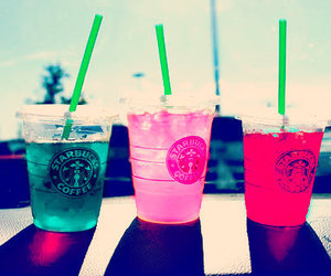 colorful, starbucks, and drink image